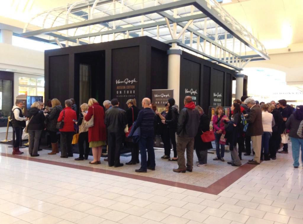 retail-is-detail_van-gogh-pop-up-museum-queuing-people-at-edmonton-shopping-mall
